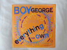 "Everything I Own and Use Me 7"" Single By Boy George"