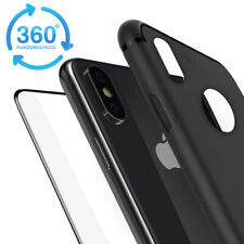 iPhone X XS Slim Case Hülle Cover TPU Silikon Schutz dünn + 6D Panzerfolie Glas