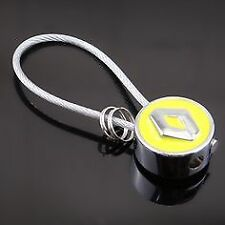 RENAULT YELLOW Key Ring Key Chain Wire Steel Car Key Holder Gift Clio Megane etc