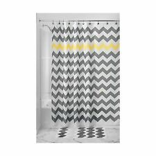 InterDesign Chevron Shower Curtain 54 x 78 Gray/Yellow Gray and... Free Shipping