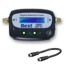 Satfinder PROFI SAT Finder mit LCD Display digital Messgerät Kompass F-Kabel
