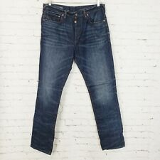 Gap 1969 Slouchy Slim Button Fly Straight Jeans Blue Denim Mens Size 34x32 M