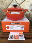 Le Creuset Cast Iron Round Casserole 4.5qt Volcanic Flame Orange Dutch Oven