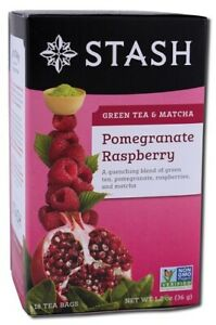 Stash Pomegranate Raspberry Green Tea & Matcha