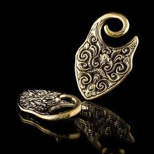 BRASS Borneo EAR SPESSORI 4mm Gauge gioielli allungato lobo gioielli (codice 10)