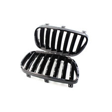 2Pcs Gloss Black Front Kidney Grille Hood Grill For BMW E83 X3 2007-2010 08 09