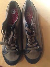 Men's KUSTOM Footwear Army Olive  Skateboard Skating Sneaker Shoes 12