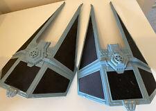 Vintage Pair Of Original Star Wars - Part Tie Interceptor 1983