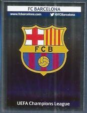 PANINI UEFA CHAMPIONS LEAGUE 2013-14- #544-BARCELONA TEAM BADGE-SILVER FOIL