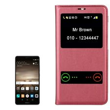 Custodia S View Flip Cover Window caller ID Rosso per Huawei Mate 9
