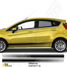 Ford Fiesta Side Racing Stripes Car Decal Graphics /Tuning Car Stickers