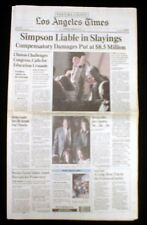 Best 1997 headline newspaper O J SIMPSON found LIABLE for MURDERS in CIVIL TRIAL