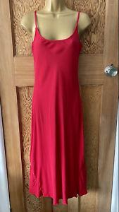 NEW Vintage Ghost Red Slip Dress Size Medium UK 10 Bias Cut Y2K 90s Christmas