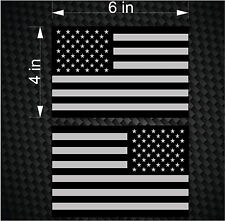 "2 Digital 6"" Subdued American Flag USA mirrored Vinyl Decals - Boat car sticker"