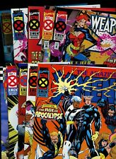 All #1 X-Men: Age of Apocalypse lot! (1995 Marvel) *10 Books* Gambit! Wolverine!