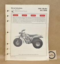 Vtg 1985 Honda ATC200 S Set Up Assembly Pre Delivery Service Instruction Manual