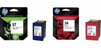 HP HEWLETT PACKARD HP 57 COLOUR C6657AE 58 PHOTO C6658AE INK CARTRIDGE TWIN
