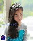 Flower Girl Kid Metallic Princess Crystal Frozen Elsa Hair Bridemaid Tiara Crown