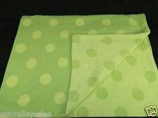Amy Coe Limited Edition Green Polka Dot Fleece Baby Blanket Reversible