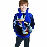 Sonic the Hedgehog 2020 Movie DIY Kids Youth Pullover Casual Hoodies Sweatshirts