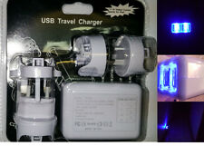 4 Port USB LED AC Adapter Home Travel Wall Charger For iPhone iPad Samsung