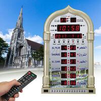 Azan Gebetsuhr Muslim Wanduhr Moschee Uhr Ezan Islam Saati mit Fernbedienung T