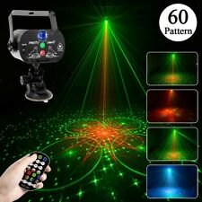 60 Patterns LED Projector RGB Laser Stage Light DJ Disco KTV Show Party Lamp