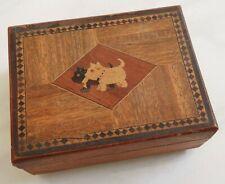 vintage Westie & Scottie Dog Trinket Box wood wooden