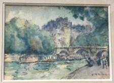 Clarence Montfort Gihon Quai Paris aquarelle Crayon