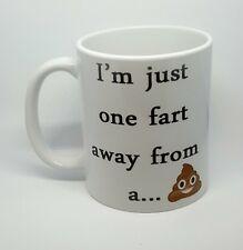 Rude fart-shit coffee mug boss funny emoji poo cheeky coffee tea free gift box