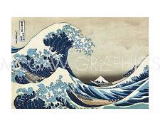"HOKUSAI KATSUSHIKA - THE GREAT WAVE AT KANAGAWA-ART PRINT POSTER 11"" X 14"" (1521"