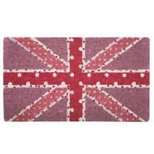 Bombay Duck Spotty Union Jack Pink Pastel Novelty Picture Doormat 75cm x 45cm