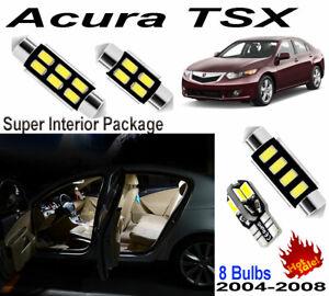 8pcs Super Bright Car LED Interior&Dome&Trunk Light Kit  For Acura TSX 2004-2008