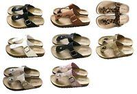 US Women Buckle Sandals Shoes Thong Flip Flops Flat T-Strap Summer Beach Slipper