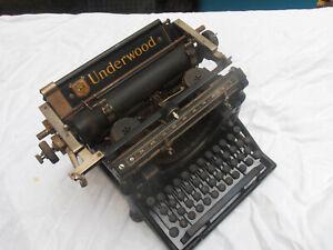 UNDERWOOD ANTIQUE TYPEWRITER #5 - CIRCA 1920 - NR. FOR RESTORATION!