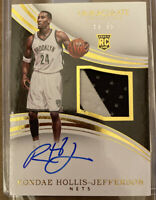 2015-16 Rondae Hollis-Jefferson Immaculate Collection Rookie RC Patch Auto /99