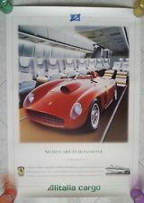 50 anni anniversary 1947-1997 ALITALIA CARGO genuine poster FERRARI 410s n/mint