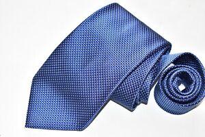 Men's Ermenegildo Zegna Blue  Silk Neck Tie Made in Italy