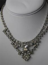 Lovely Vintage Art Deco Rhinestone Swag Necklace