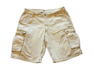 Carhartt Chino Cargo Shorts Combat W40 Mens Relaxed Fit White 100% Cotton