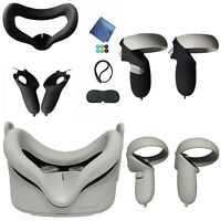 Eye Mask Pad Cover Grip Silicone Case for Oculus Quest 2 VR Glasses Controller