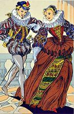 Belle LITHOGRAPHIE danse ancienne La Courante par André HOFER