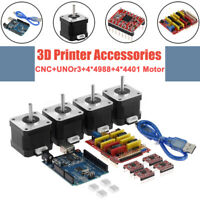 CNC Shield + UNO R3 Board+4XA4988/4X4401 Stepper Motor Driver Kit for 3D Printer
