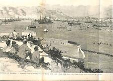 Rade Toulon escadre marine de Russie tour Beaumont fort Faron ILLUSTRATION 1893