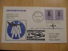 "DDR MEF MiNr 1412 ""15 Pfg Käfer"" LuPo-AUSL.-BRIEF ""Leipzig 28.2.69"" Messeflug"
