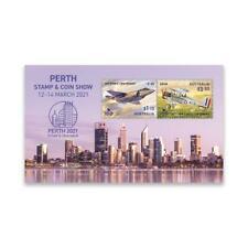AUSTRALIA 2021 PERTH STAMP SHOW (RAAF CENTENARY) SOUVENIR SHEET OF 2 STAMPS MINT