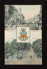 Gloucestershire Glos CHELTENHAM bi-view Heraldic used 1906 PPC local pub Edwards