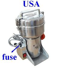 Electric Herb Coffee Beans Grain Grinder Cereal Mill Powder Machine Flour 400g