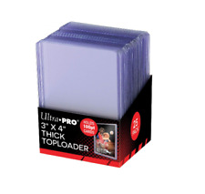 Ultra Pro Clear Thick 100pt TOPLOADER Rigid Card Protector Top Loader 3x4