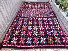 Old Handmade Moroccan Azilal Wool Rug Large Vintage Beni ourain Rug Carpet